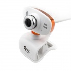 Jeway JW-5324 5.0 MP HD 1080 Camera w/ Microphone for Laptop / Desktop Computer - Orange + White