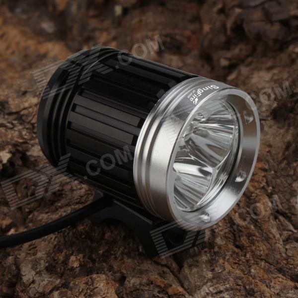 SingFire SF-302B 3-LED 2400lm 4-Mode White Bike Headlamp (4 x 18650 / EU Plug) mymei outdoor 90db ring alarm loud horn aluminum bicycle bike safety handlebar bell