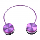 WS-3100 Bluetooth V2.1+EDR Stereo Headphone w/ Microphone - Purple + White
