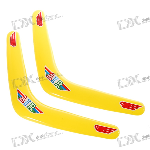 Classic V-Style Outdoor Flying Boomerang (Pair/Yellow)