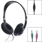 SalaR V-40 Fashionable Headphones w/ Microphone - Black + Silver (230cm)