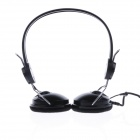 TongsioN Fashionable Bass Headphones w/ Multimedia Microphone - Black + Silver (220cm)