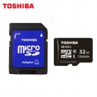 TOSHIBA Micro SDHC TF Card w/ SD Adapter - Black + White (32GB / Class10)