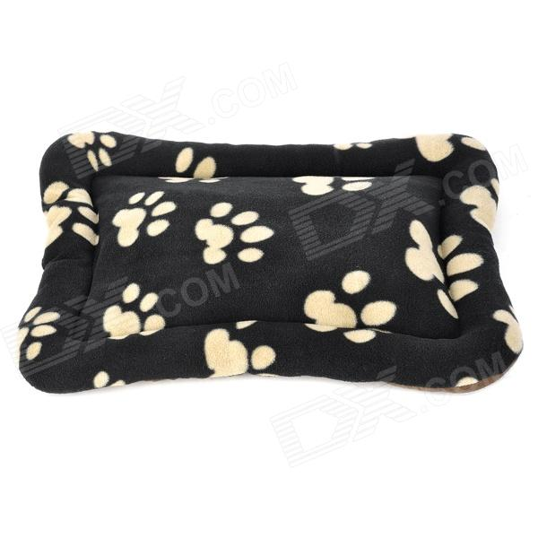 Comfortable Coral Velvet Pad Mat for Dog Cat Pet - Black + Beige (Size-S)