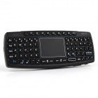 Ourspop i7 2,4 GHz 68-Key Mouse Keyboard Combo + Touch Pad für Smart Android OS TV - Schwarz