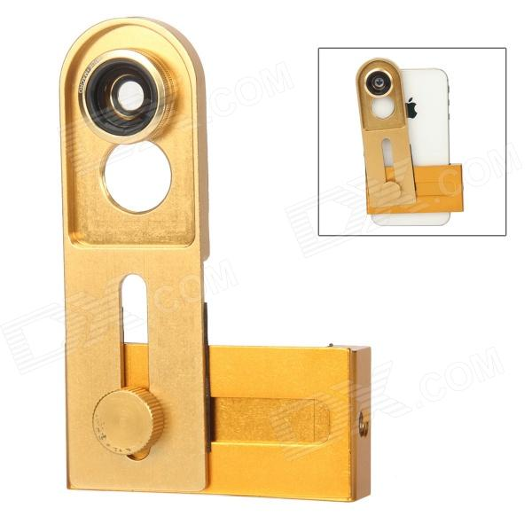 Universal Cellhone Lens Clip + 0.67X Wide + Macro Lens + 180 Degrees Fish Eye Lens - Golden universal cellhone lens clip 0 67x wide macro lens 180 degrees fish eye lens golden