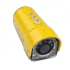 1080P Mini Sports DV 5.0MP CMOS Water Resistant Camera w/  Laser + SOS Light - Yellow