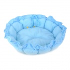 Retractable Round Shaped Dog Cat Pet Nest Bed - Sky Blue (Size-S)
