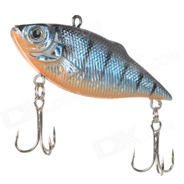 Lifelike 6-Hook Fishing Baits - Black + Blue
