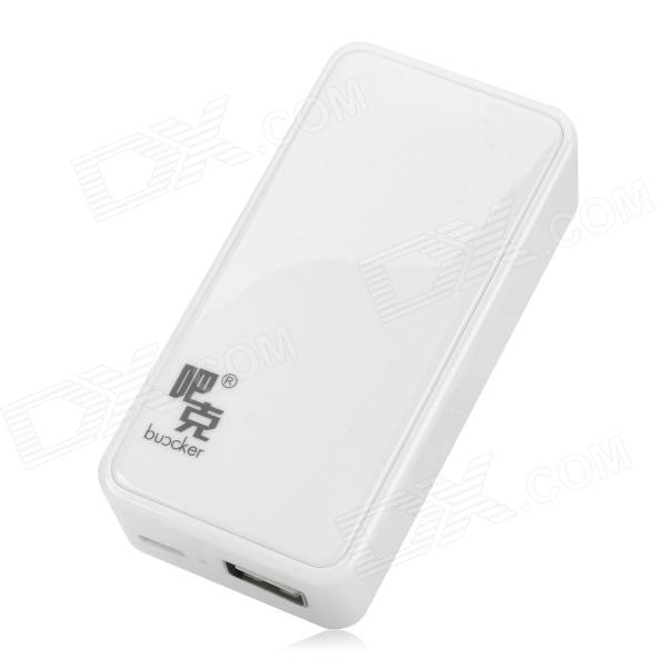 Buccker i5 Mobile 5600mAh Power Bank for Ipad / Cell Phone - White