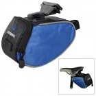 ROSWHEEL Quick Release Bicycle Saddle Seat Tail Bag - Black + Blue