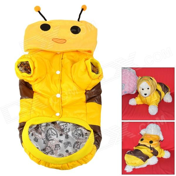 Cute Bee Style Cotton Pet Apparel Clothes for Dog - Yellow + Brown (Size XXL) cute frog pattern toy poodle cotton vest apparel yellow green brown size m