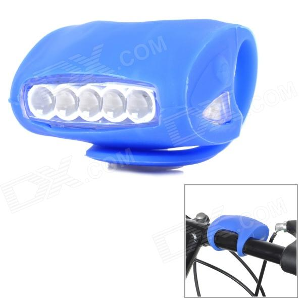 FJQXZ Bicycle Bike Cycling 7-LED 3-Mode White Lamp - Blue (3*AAA)