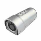 1080P Mini Sports DV 5.0MP CMOS Water Resistant Camera w/  Laser + SOS Light - Silver