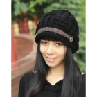 MXM-01 Womens Warm Winter Beret Wool Hat - Black