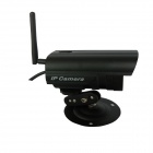 "WaterProof 0.3 MP 1/4"" CMOS P2P IP Network Camera w/ 36-IR LED / Wi-Fi - Black"