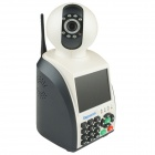 "3.5"" Screen 0.3 MP 1/4"" CMOS Video Call Wi-Fi P2P Network Phone Camera w/ 7-IR LED - White + Black"