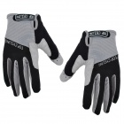 TOPCYCLING TOP901 Cycling Anti-Slip Anti-Shock Full-Finger Gloves - Black + Grey (Size L / Pair)