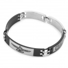 UBE UTY 6006 Flying Eagle Pattern Stainless Steel Bracelet - Black + Antique Silver