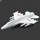 UT034 Creative Airplane Style Zinc Alloy Mini USB2.0 Flash Drive - White (8 GB)