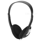 LX-800V Bass Effect Headband Headphone w/ Connect Plugs - Black (500 cm)