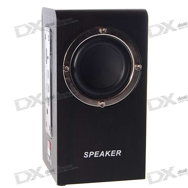 Portable Rechargeable SD/MMC/USB MP3 Player Speaker with Remote Control