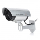 ATOB 1100S Realistic Looking Dummy IP camera w/ Red LED Flasher - Silver