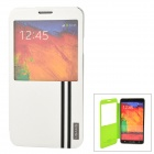 USAMS Jazz Series Protective PU + PC Flip-open Case for Samsung Galaxy Note 3 - White