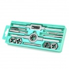 WLXY WL-6512 Professional 12-in-1 Tap & Die Tools Set - Black + Silver