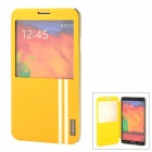 USAMS Note3JZ05 Stylish PU + PC Flip-Open Case for Samsung N9002 / N9005 / N9006 / N9008 - Golden