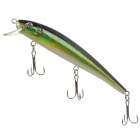 018-1  Lifelike Fish Style 9-Hook Fishing Bait - Green