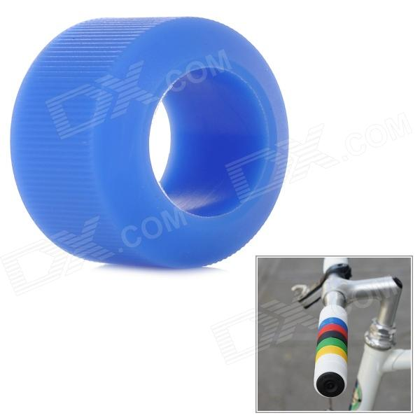 OQsport DIY Cool Bike Silicone Handlebar Grip Cover - Blue