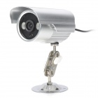 JN-908C Waterproof CMOS 300KP CCTV Camera w/ 2-IR LED Night Vision - Silver