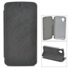 Protective Flip Open PU + PC Case w/ Stand for LG Nexus 5 - Black