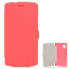 NILLKIN Auto Sleep Wake Up Flip Open PU Leather Case for LG Nexus 5 - Red
