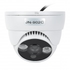 JN-902C Indoor CMOS 300KP CCTV Camera w/ 2-IR LED Night Vision - White
