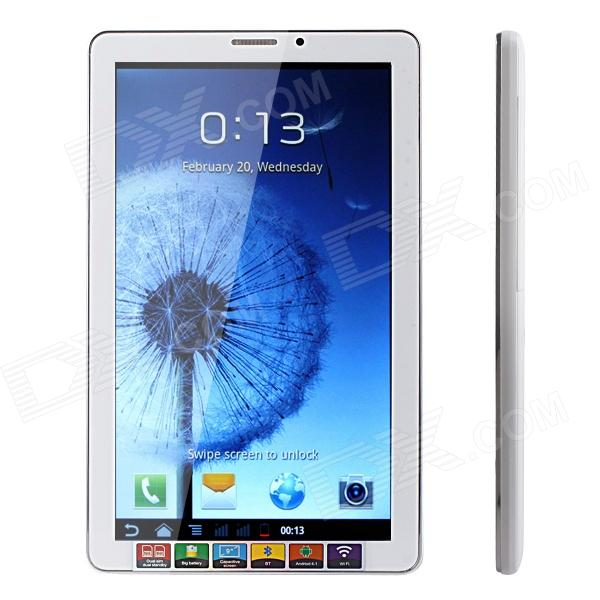 JXD P9100 9 HD Android 4.1 Phone Tablet PC w/ Dual-SIM / Wi-Fi / G-sensor - White samsung galaxy s4 2 ядра dual 5 дюймов wi fi duos android 4 0 2 sim