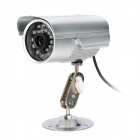JN-808C Waterproof CMOS 300KP CCTV Camera w/ 24-IR LED Night Vision - Silver