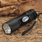 UltraFire BD0052 2W 9-LED 405nm Purple Flashlight - Black (3 x AAA)