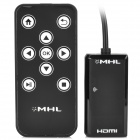 HD MHL Micro USB Male to HDMI Female Converter + Remote Controller for Samsung Galaxy S2 / S3 / S4