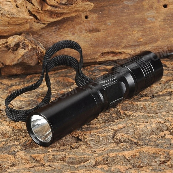 GODFIRE C3 120lm 5-Mode Memory White Flashlight w/ CREE XR-E Q5 - Black (1 x 14500 / AA)