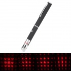 LSON 6G 5mW 650nm 6-Pattern Red Laser Pointer - Black + Silver (2 x AAA)