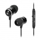OVLENG iP650 Stylish In-Ear Earphones w/ Microphone / Cable Control - Black