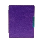 Protective PU Leather Flip Case Cover w/ Auto Sleep for Kobo Non HD - Purple