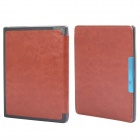 Protetora PU Leather Flip Case Capa w / Auto sono para Kobo Non HD - Brown
