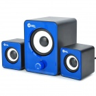 JEWAY JS3301 USB 2.0 Wired 2.1-CH Subwoofer Bass Speakers Set - Blue + Black