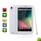"MOCREO 7"" IPS MTK6589 Quad Core Android 4.2 Dual-SIM WDMA / GSM Tablet PC w/ MHL + OTG - White"