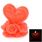 Rose Shaped Plant Wax Candle - Red