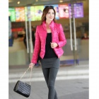 Fashion Women's Slim Warm Cotton Jacket - Red (Size-L)