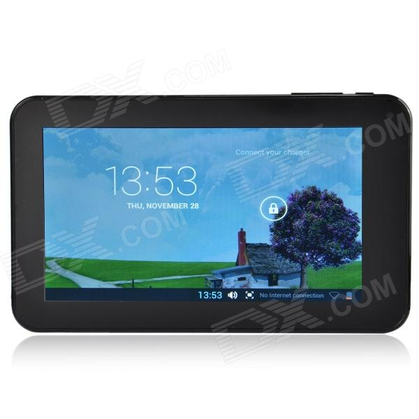 A70M 7.0 Dual Core Android 4.2 Tablet PC w/ 512MB RAM, 8GB ROM, Wi-Fi, Dual Camera - Black - DX - DXTablets<br>Color Black Brand OthersN/A Model A70M Quantity 1 Set Material Plastic Processor Brand VIA Processor Model OthersVIA 8880 Processor Speed 1.5 GHz Number of Cores Dual Core Operating System Android 4.2 GPU Mali-400 MP RAM/Memory Type DDR3 SDRAM Built-in Memory 512MB Capacity 8GB Screen Size 7.0 Inch Screen Type TFT Touch Type Capacitive screen Resolution 800 x 480 Touch Point 5-point Capacitive Touch Screen 3G Type No 3G Function No 2G No GPS No RJ45 No Supported Network WifiExternal 3G Wi-Fi Standard IEEE 802.11 bIEEE 802.11 g Gravity Sensor Yes Bluetooth Version No Microphone No Audio Output 3.5mm audio jack Speaker 1 Interface 1 x 3.5mm1 x mini USB1 x mini HDMI1 x DC PortOthers1 x TF1 x HOST USB Charge Yes Google Play(Android Market) Yes Camera 2 x Camera Front Camera Pixels 0.3 MP Back Camera Pixels 0.3 MP Photoflash Lamp Yes Storage Interface TF Button ResetSoundPower Images BMPGIFJPEGJPGPNG E-book PDFTXT Video Formats AVIMP4M4VFLVVOBWMV External Memory Max. Support 32 GB Plug Specifications US Plug (2-Flat-Pin Plug) Tip Diameter Others Supported Languages EnglishFrenchGermanItalianSpanishPortugueseRussianVietnamesePolishGreekDanishNorwegianDutchArabicTurkeyJapaneseKoreanThaiHungarianPersianMalaySlovakCzechRomanianSwedishFinnishChinese SimplifiedChinese TraditionalBulgarianNorwegianHebrew Battery Capacity 2400 mAh Battery Type Li-polymer battery Working Time 5~6 Hour Standby Time 10 Hour Charging Time 4~5 Hour Packing List 1 x Tablet PC 1 x AC power charger adapter (100~240V / 2-flat-pin plug) 1 x USB cable (60cm) 1 x OTG cable (3cm) 1 x EU plug power adapter 1 x English user manual<br>